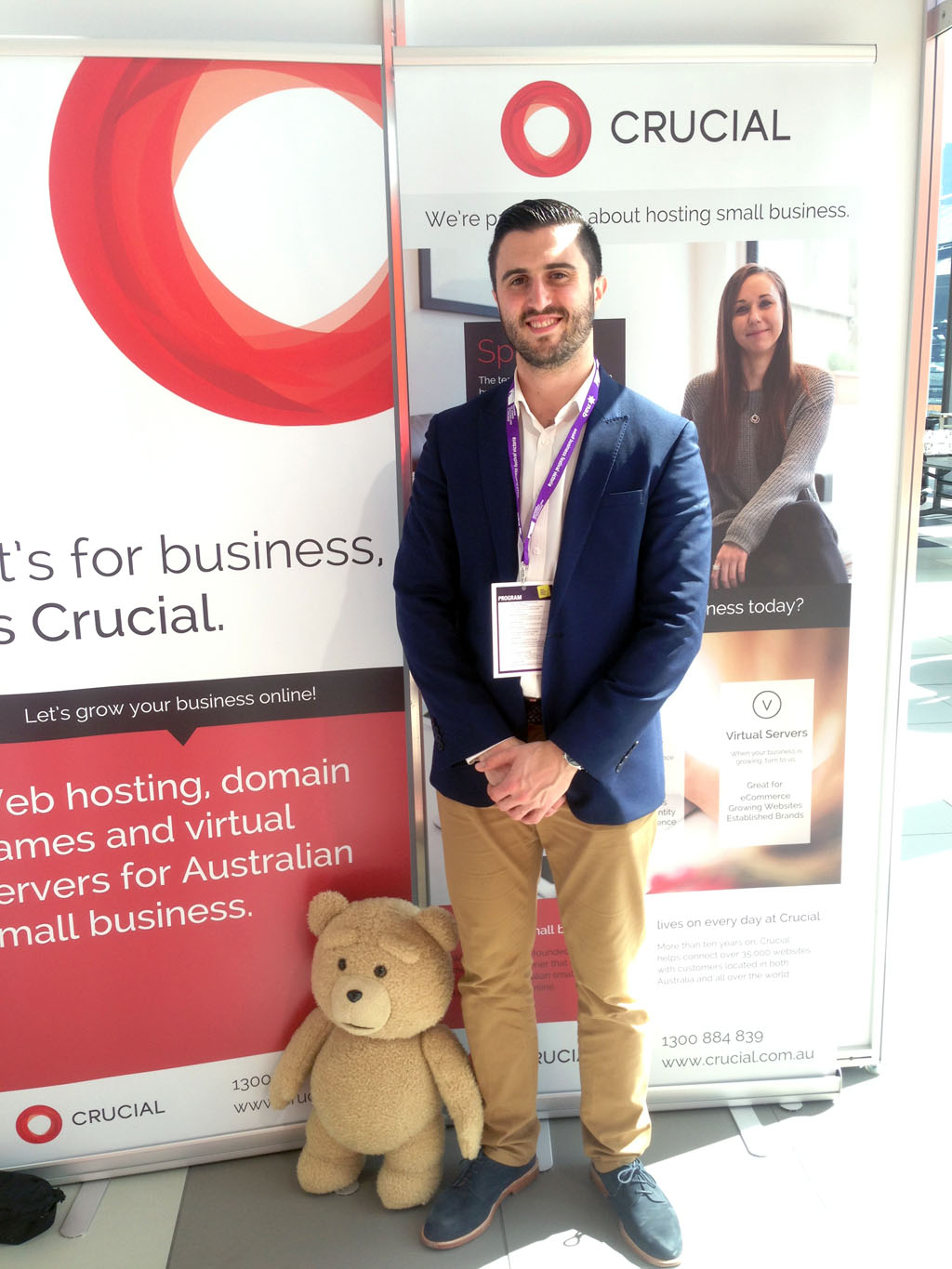 Crucial's Day Out at Small Business BIG Marketing Victoria