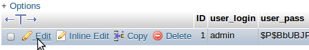 Edit Admin User